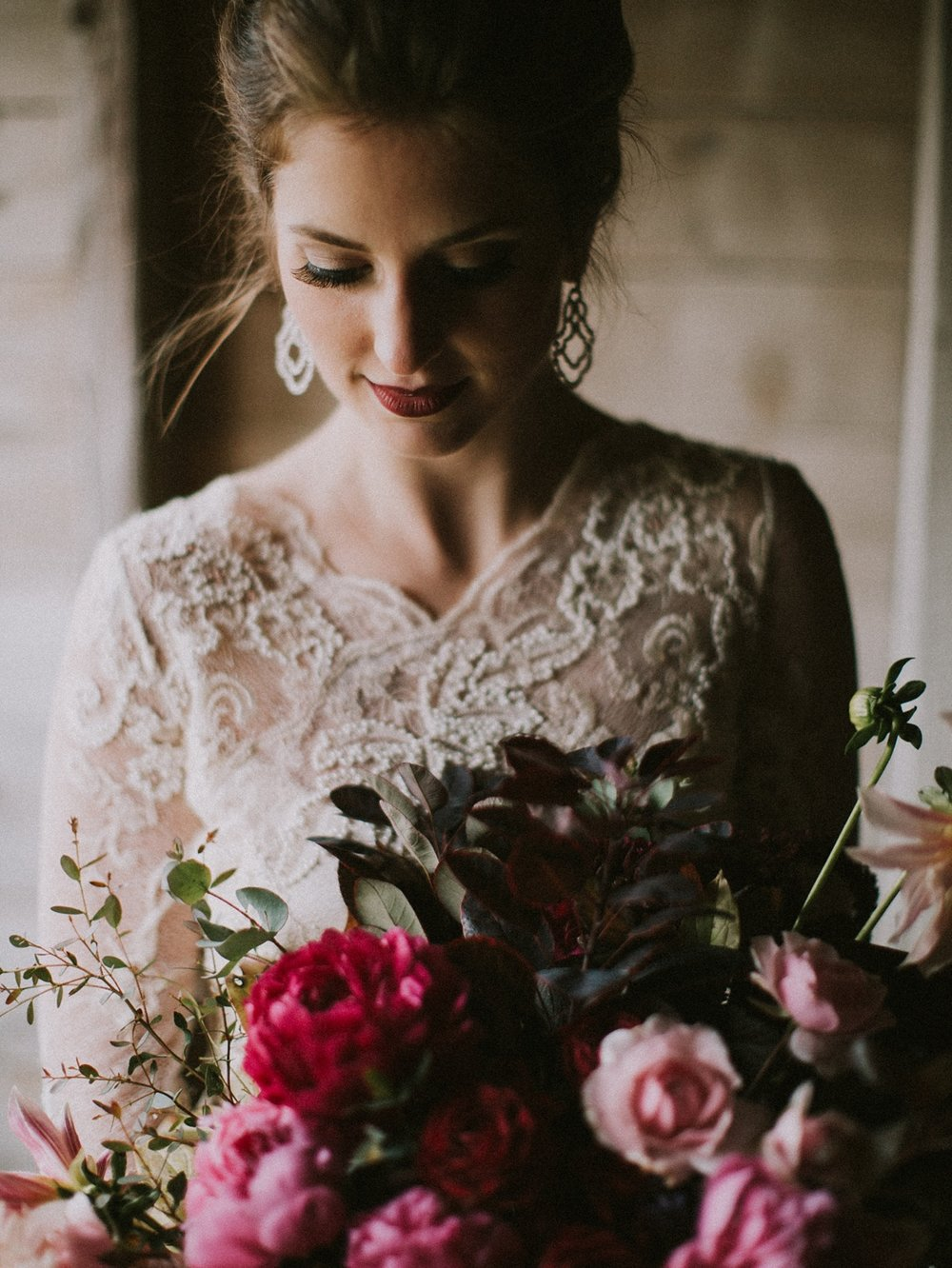 moody and romantic maine wedding inspiration
