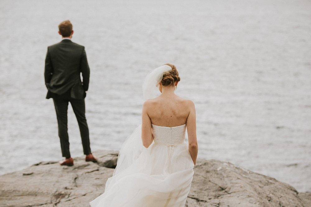 first look maine fine art wedding photographer