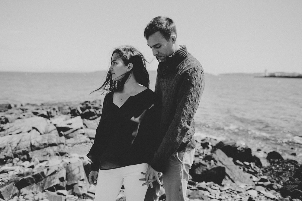Portland Maine Fine Art Wedding Photographer Engagement Photos