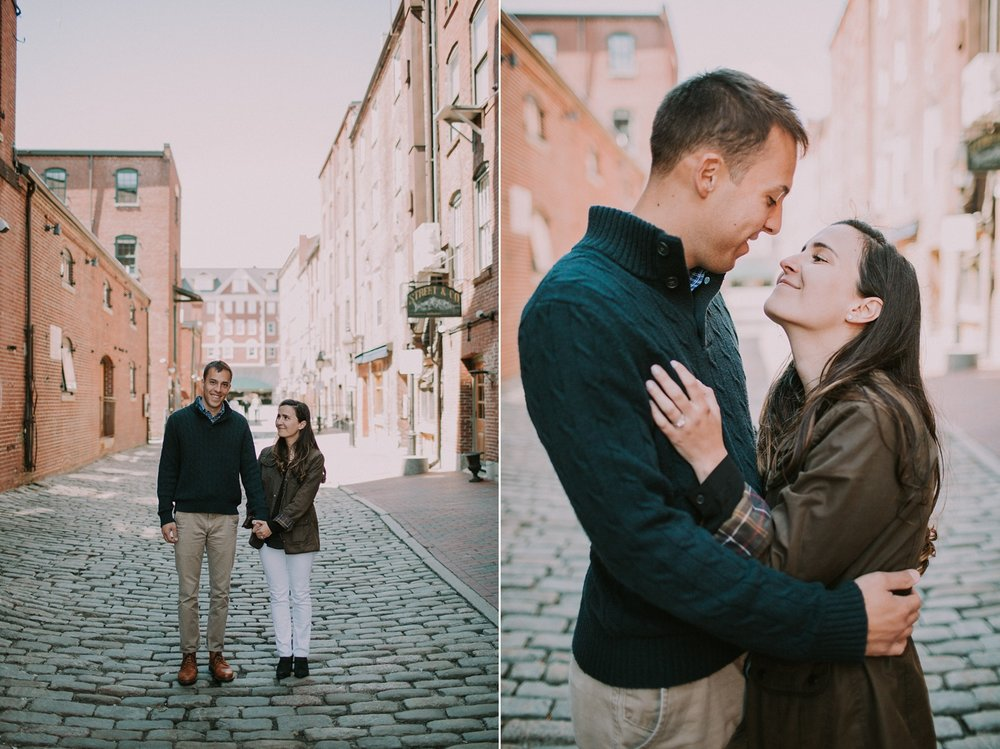 Old Port Portland Maine Engagement Photos