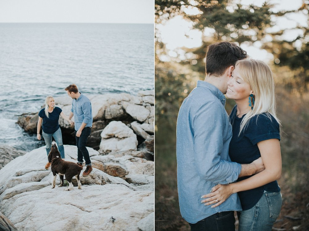 reid state park engagement photographer maine
