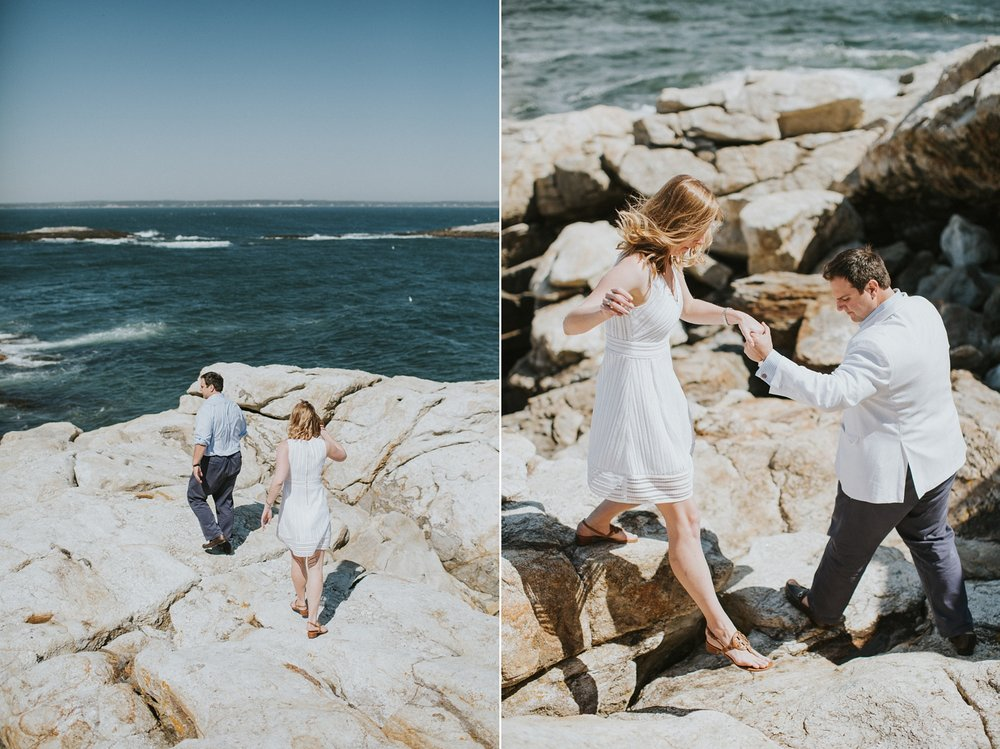 midcoast maine engagement photos