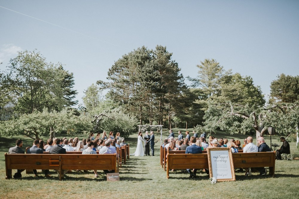 Live Well Farm Wedding Harpswell Maine