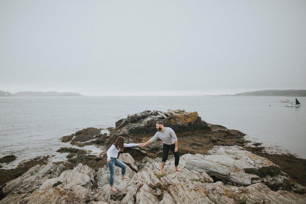 kettle cove maine engagement photos