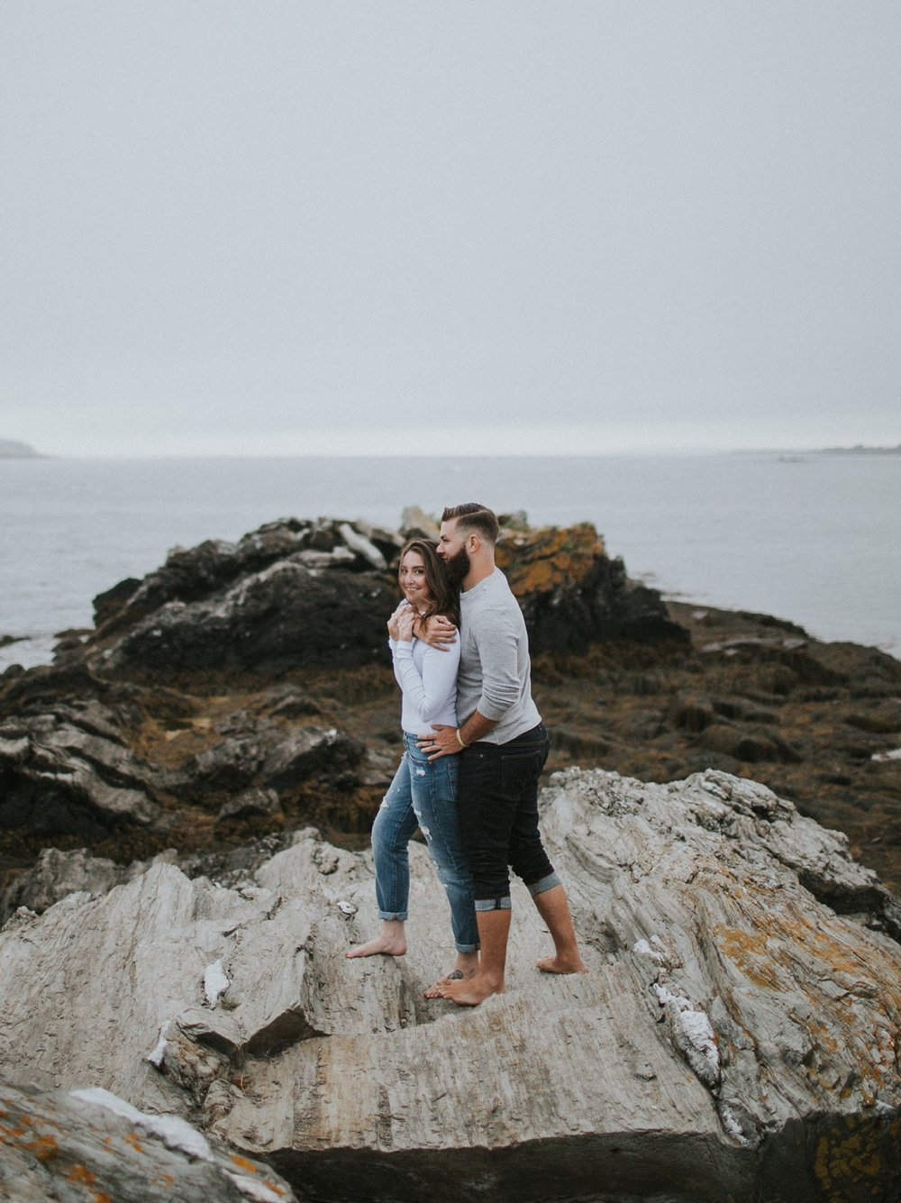 kettle cove maine engagement photoskettle cove maine engagement photos