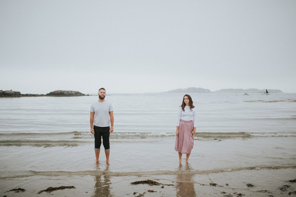 kettle cove maine fine art engagement photos