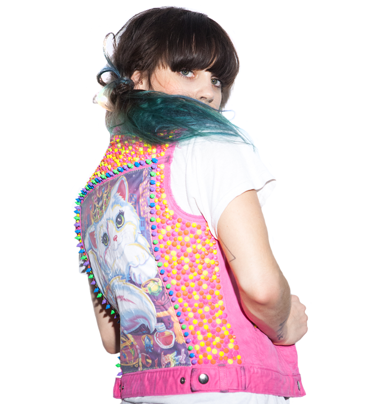 mystic-mayhem-Lisa-Frank-Cat-Hot-Pink-neon-stud-vest-back.png
