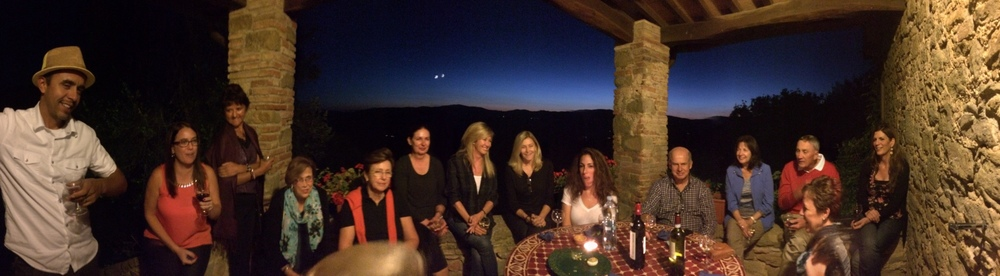 On the terrace in Umbria 2014