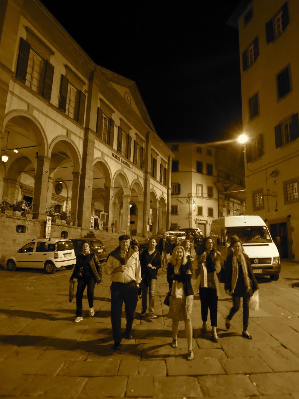 An evening in Cortona.