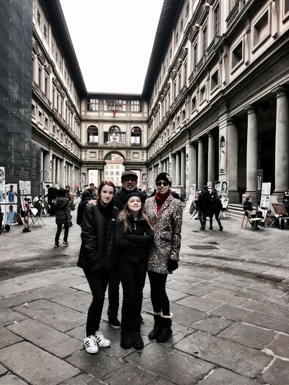 Me and my girls in Florence - New Years 2016