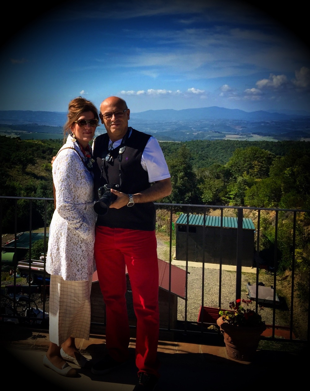 Isabel and Mark at the Poggio Rubino Winery - Montalcino, Tuscany Sept 2015