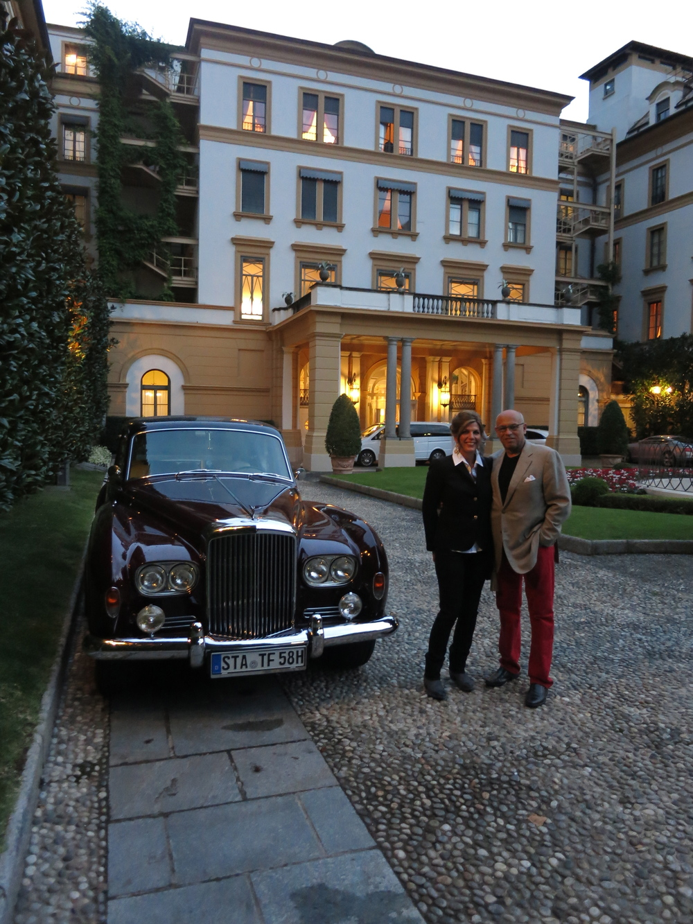 Mark and Isabel at the Villa d'Este ~ Lake Como