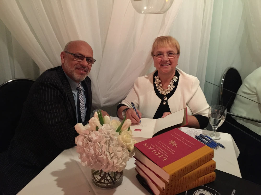 MC with Lidia Bastianich signing my copy of her wonderful cookbook.