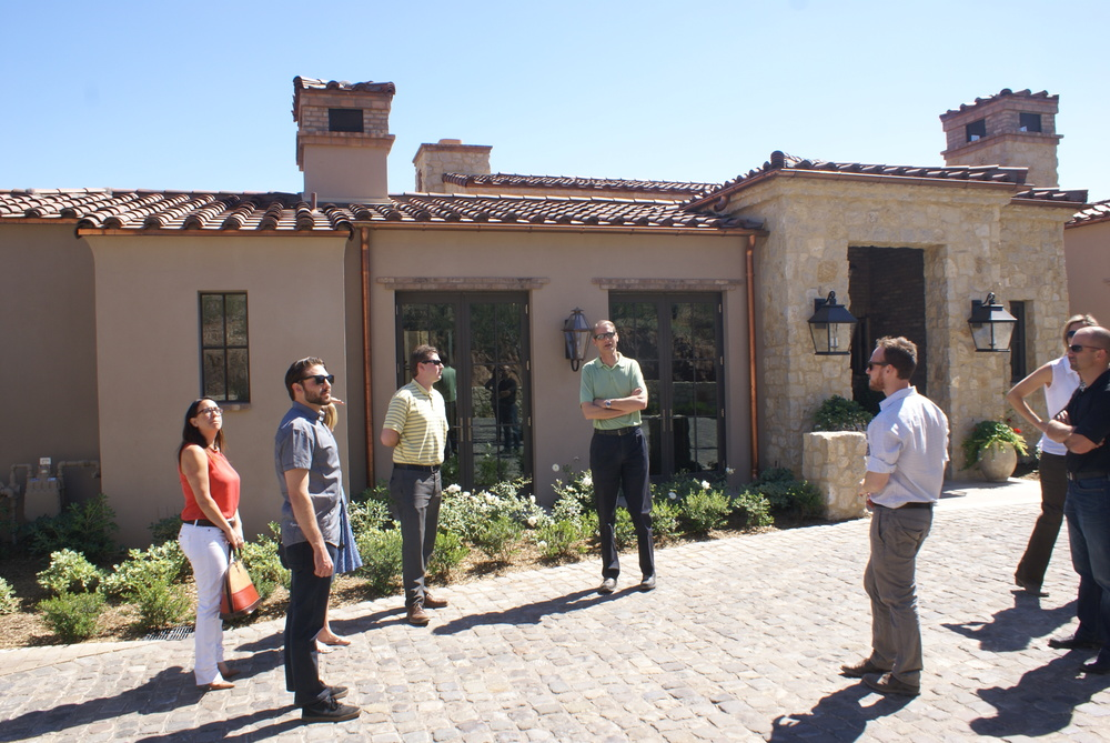 Jeff kramer leads the tour on this spectacular Rural Mediterranean home in Paradise Valley.