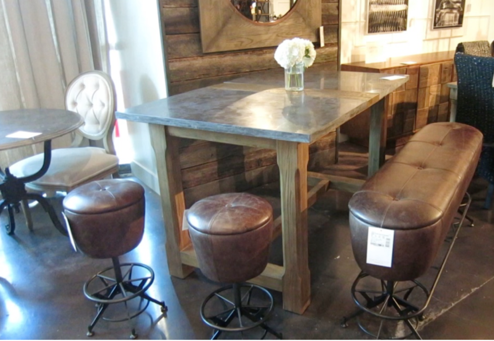Hightop Table and stools at Four Hands