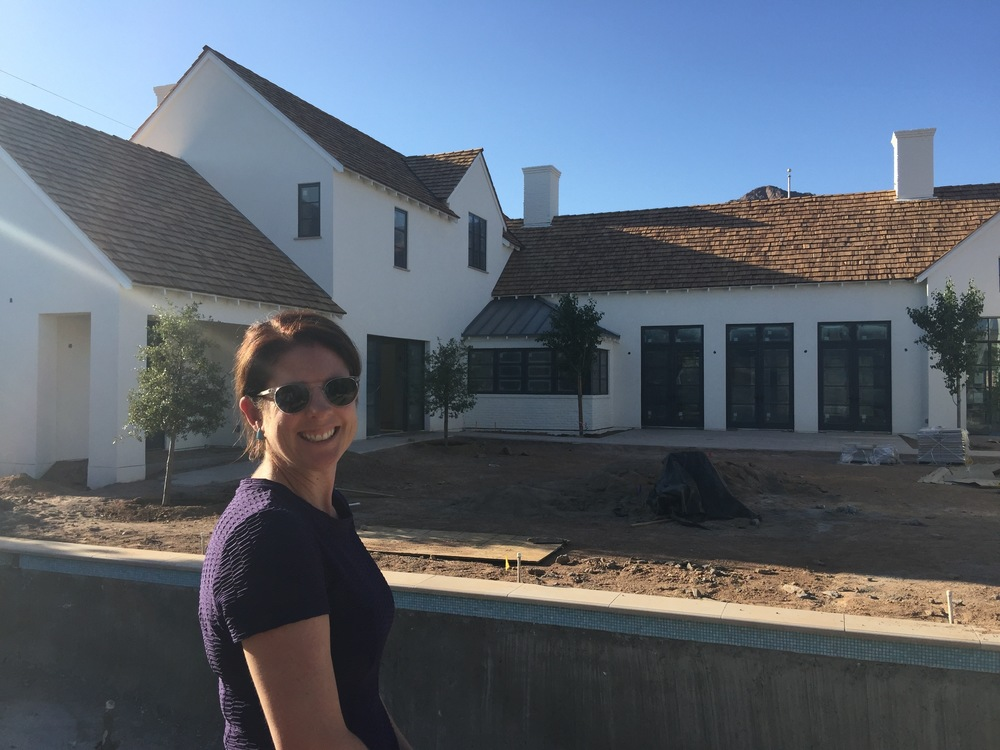 Candelaria Design Architect, Meredith Thomson at her Modern Farmhouse creation in Arcadia.