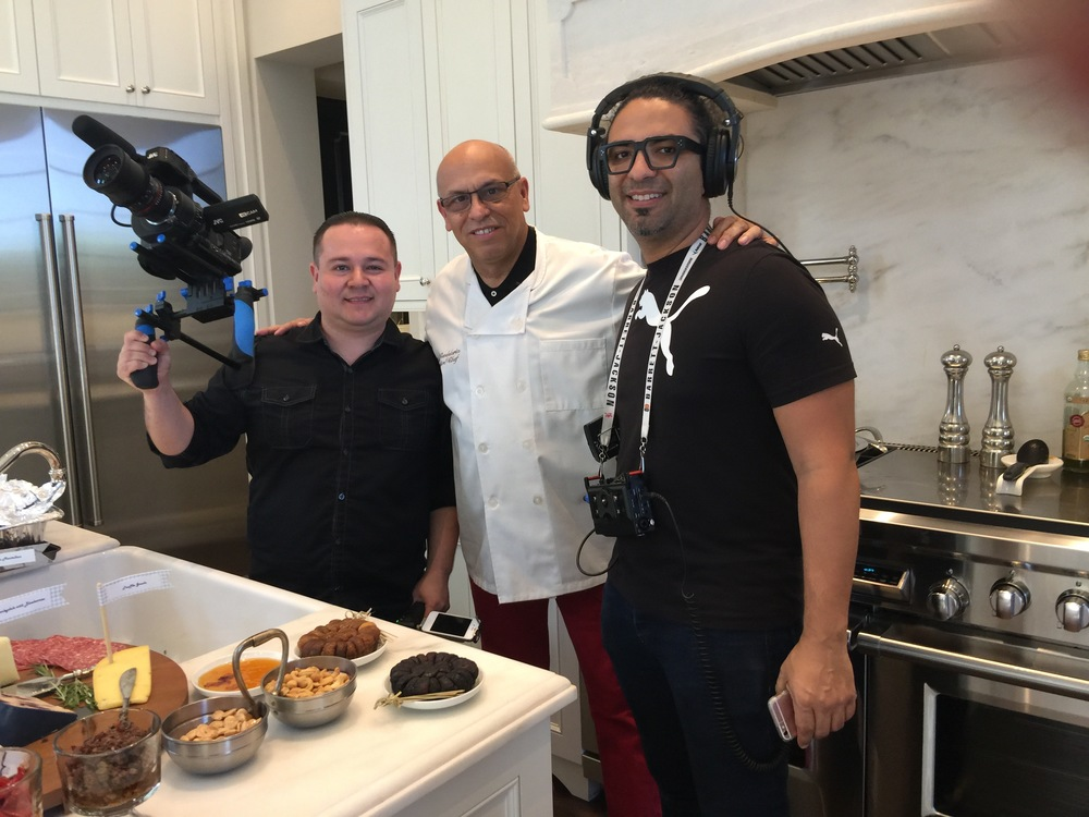 MC in the Kitchen with he Wedgie Creative film crew.