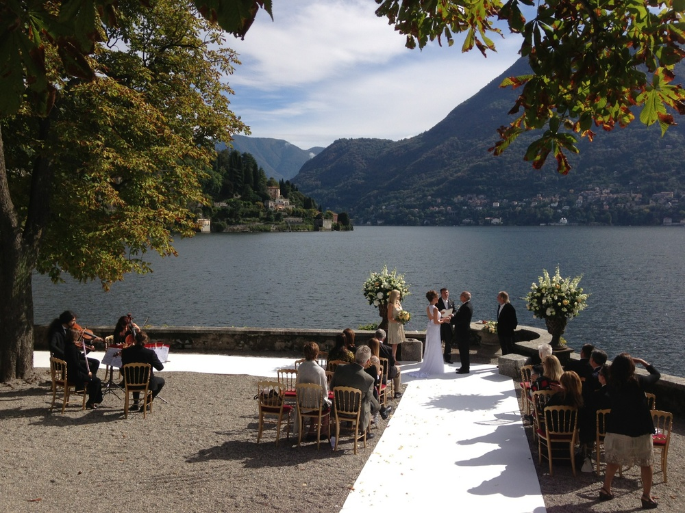 Wedding day on Lake Como - September 16, 2013
