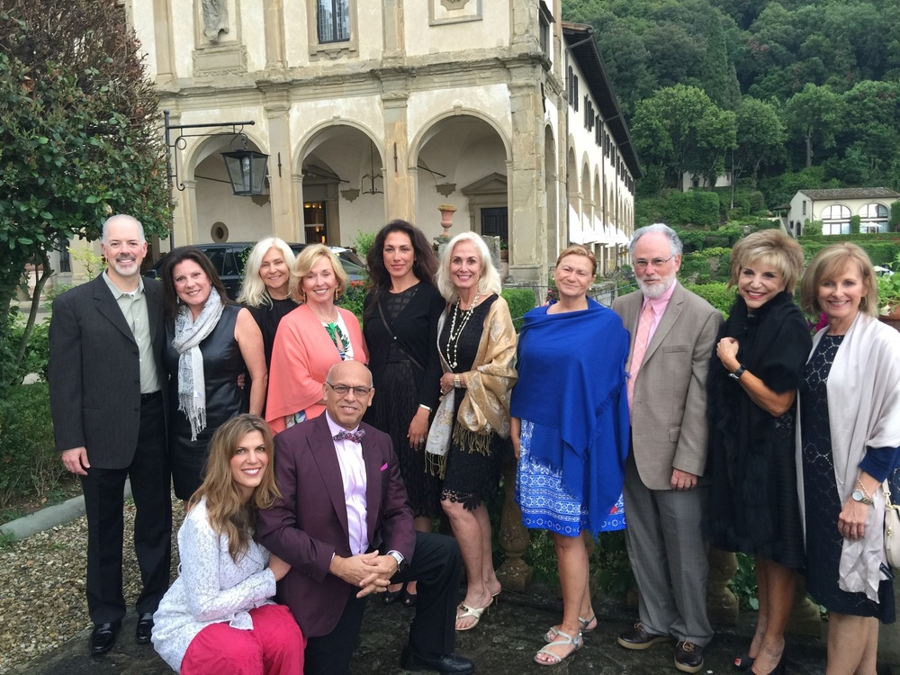 Our June 2016 Candelaria Design Tour Italy Travelers at the Villa San Michele