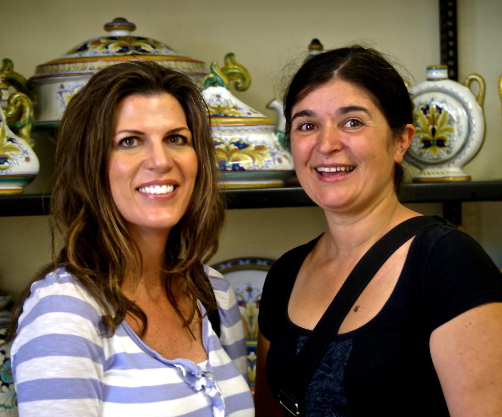 Isabel and Roberta in 2012 at Cama