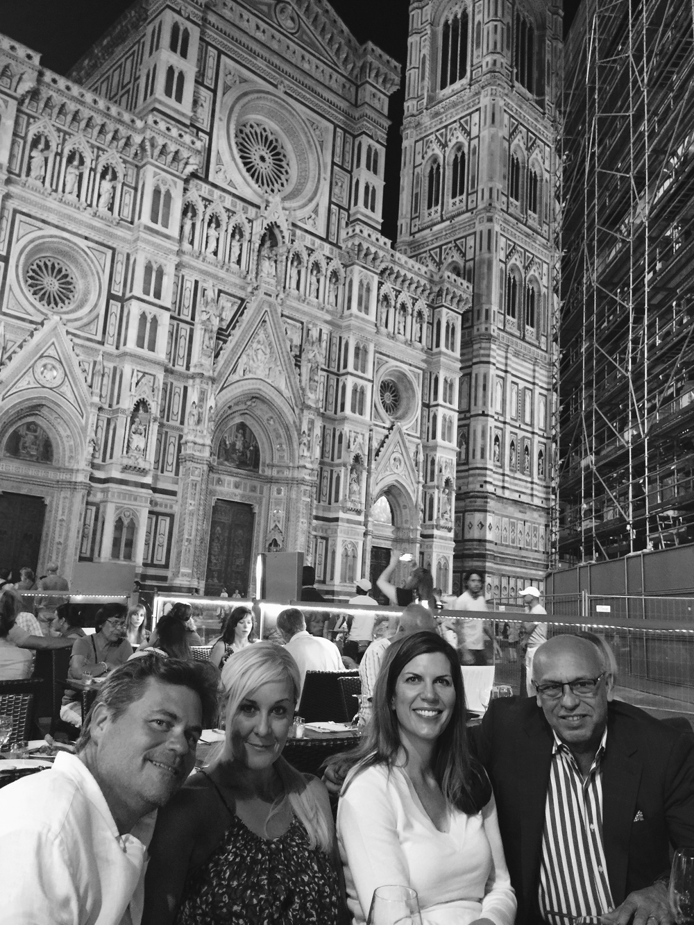 Matt and Jennifer Gage with Isabel and Mark in Florence