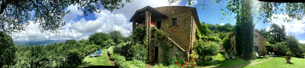 Our farmhouse compound in Umbria