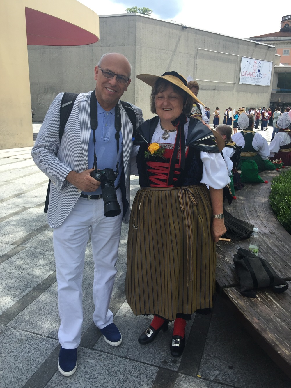 MC making friends in Switzerland