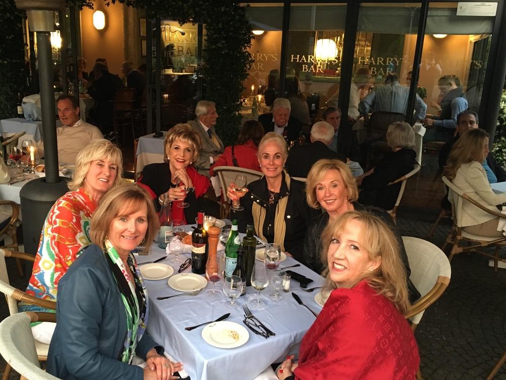 Cocktails at Lake Como at Harry's Bar.