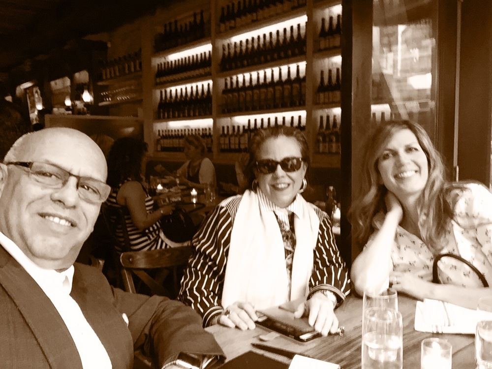 Mark and Isabel with marketing maverick and NYC socialite Marguerite Brown in NYC