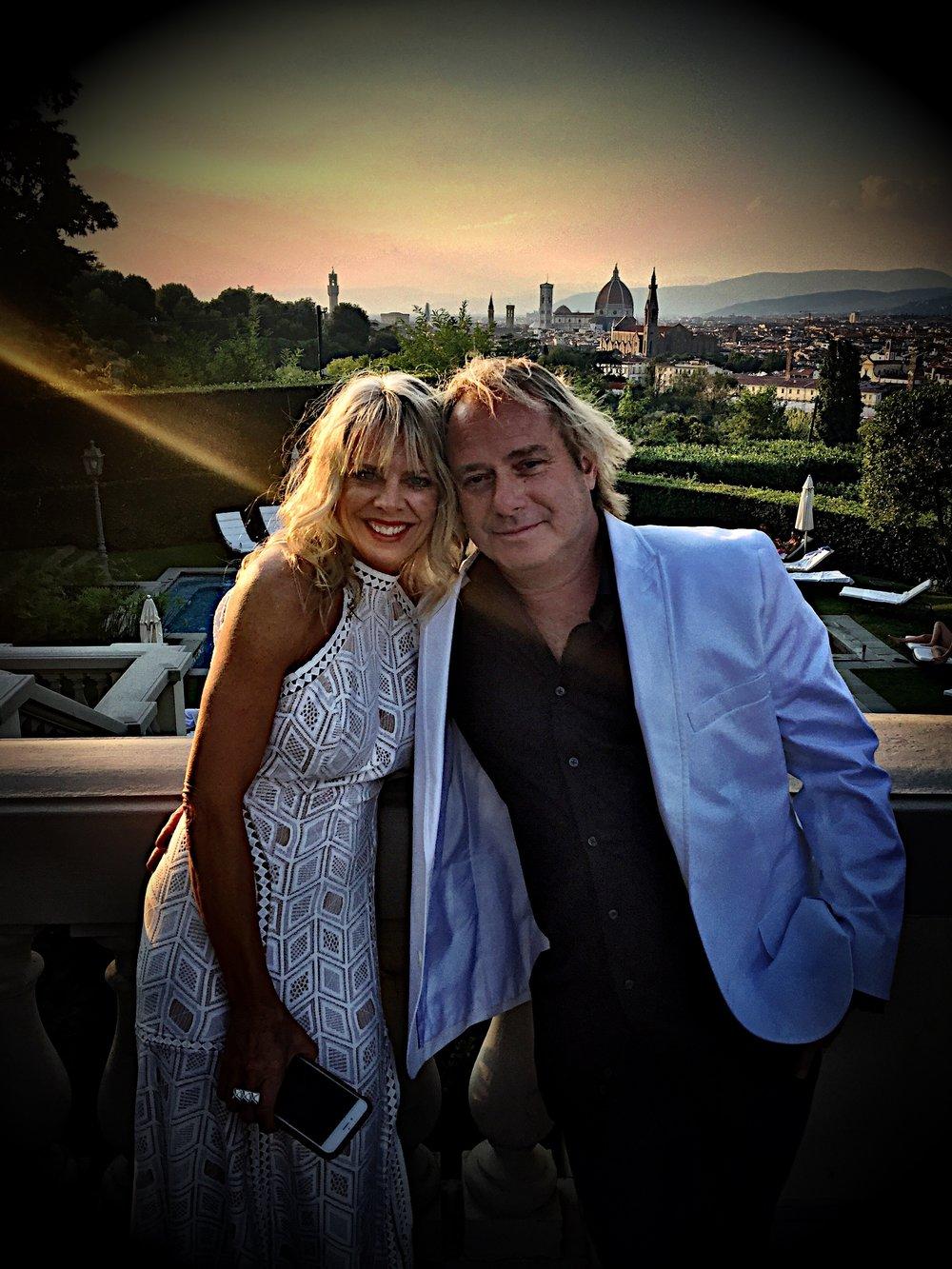 Michelle Watts and Walter Spitz at the Villa La Vedetta