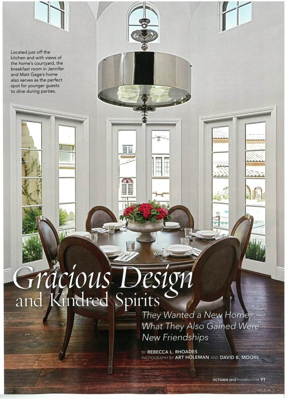 Phoenix Home & Garden October 2016: Gracious Design & Kindred ...