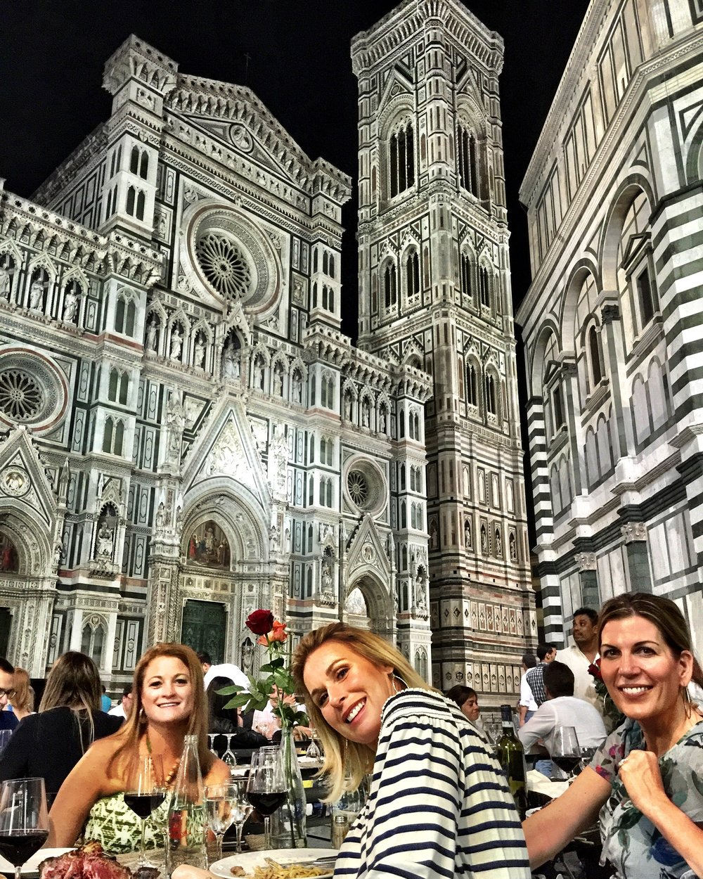 Kimberly Banach, Theresa Steg and Isabel in Firenze