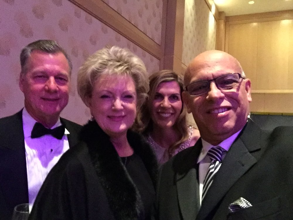 Heart Ball 2016 with clients Rod and Kim Cullum, Isabel and MC