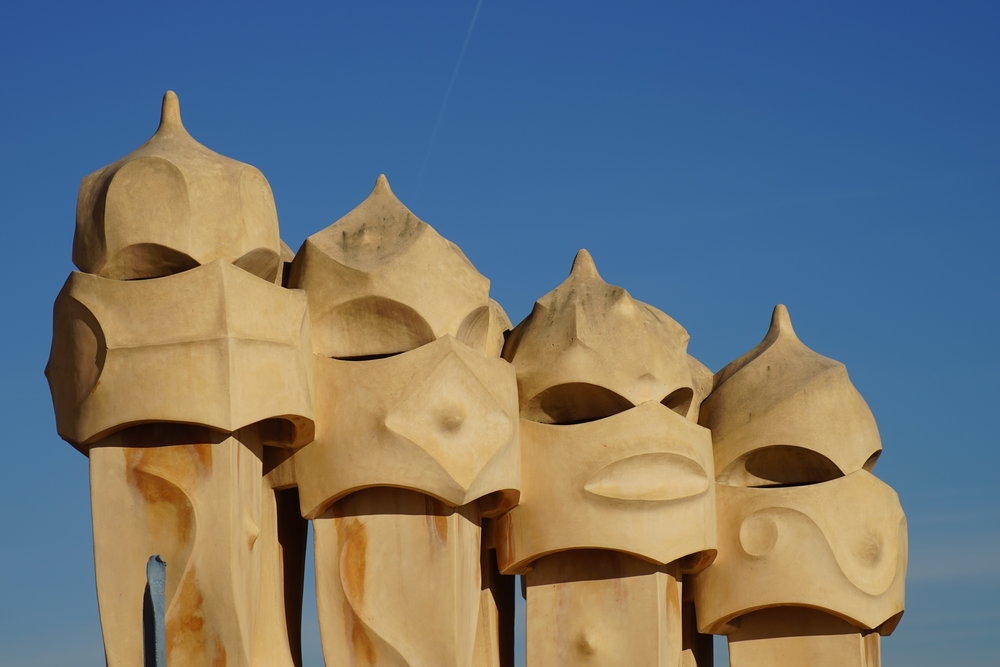 Rooftop chimneys at Casa Mila - Barcelona