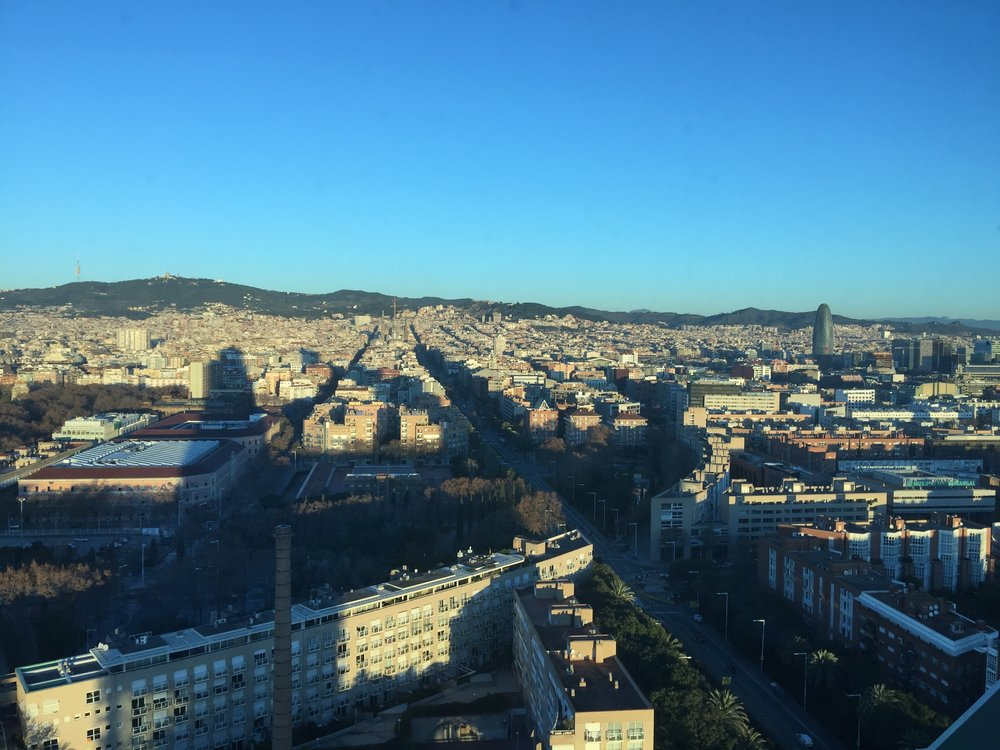 City view of Barcelona from the Hotel Arts