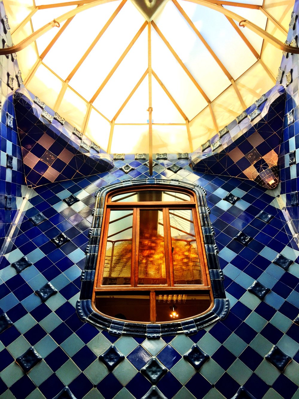 Lightwell at Casa Batllo - Barcelona