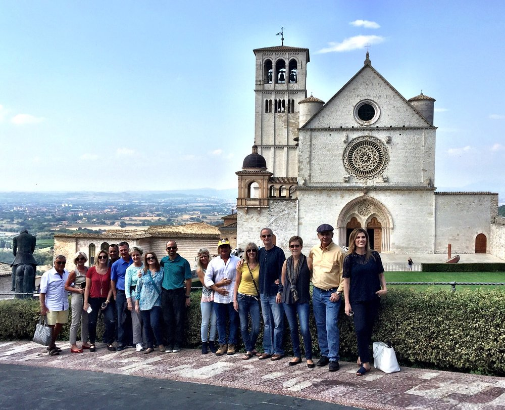 Group Photo from our 2016 Tour in Assisi.
