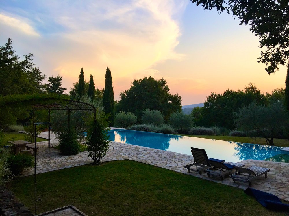 Our pool at the Umbria Farmhouse Compound.