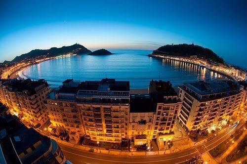 San Sebastian is are setting for our arrival in Spain 2017.