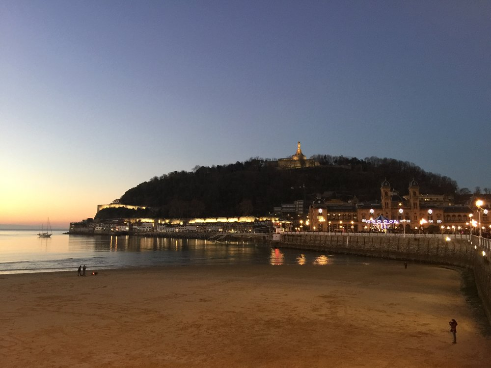The lovely Playa de Concha in San Sebastian