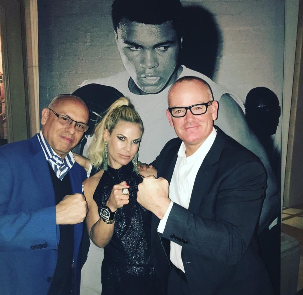 MC with Laurie and Jon Hunter - Getting ready for Fight Night
