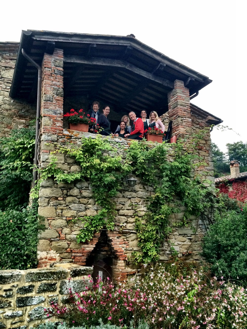 Our Candelaria Design Tour Italy 2014 Crew at the country houses in Umbria.