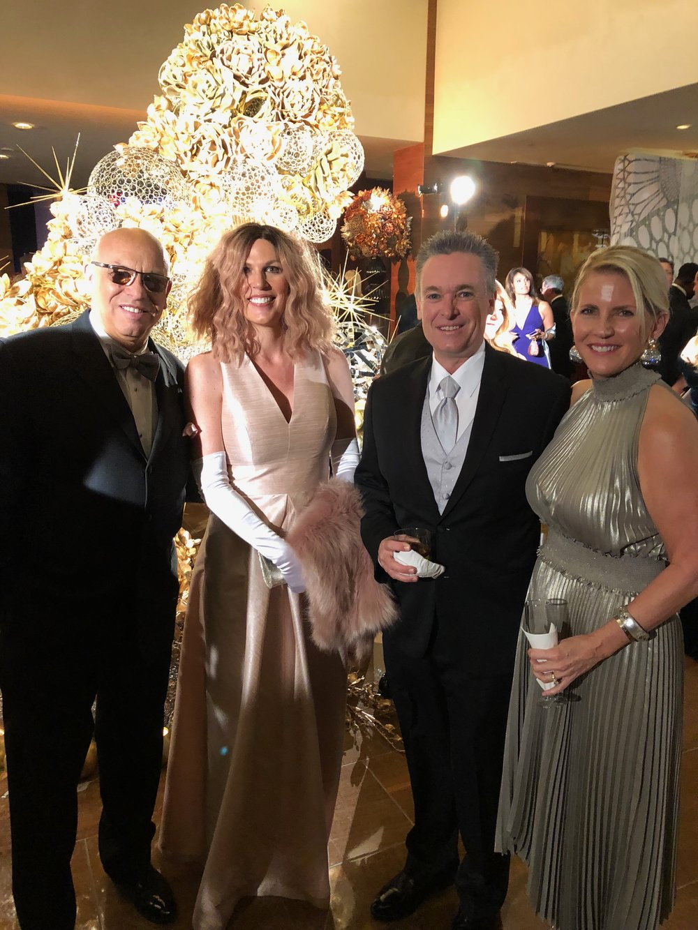 Mark, isabel, Jim and Jessica Audiss at the 2017 Heart Ball