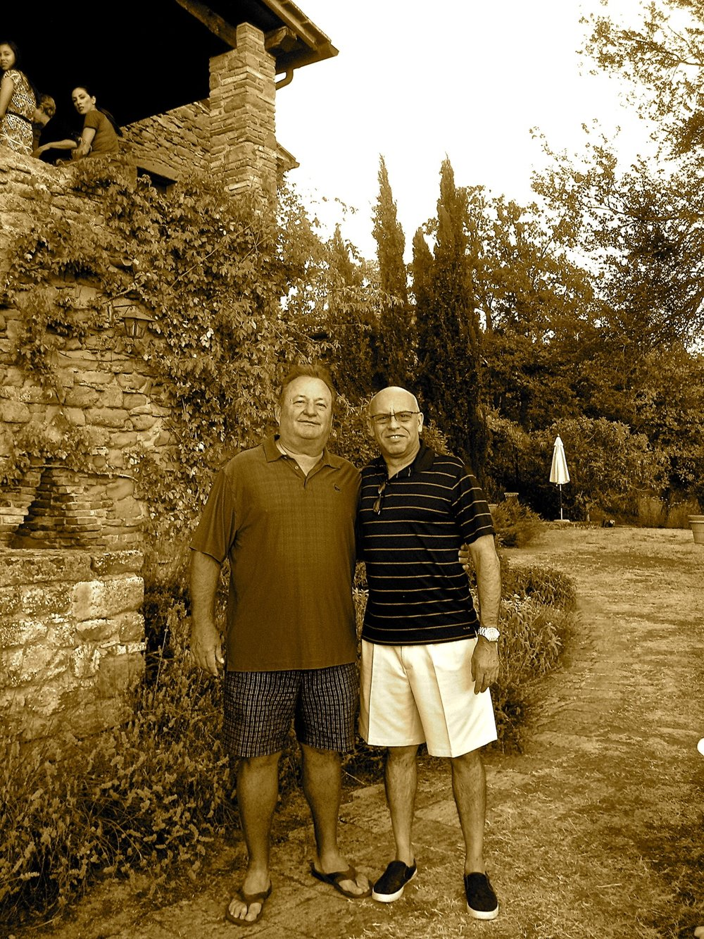 Larry Peery and MC in Umbria, Italy 2012