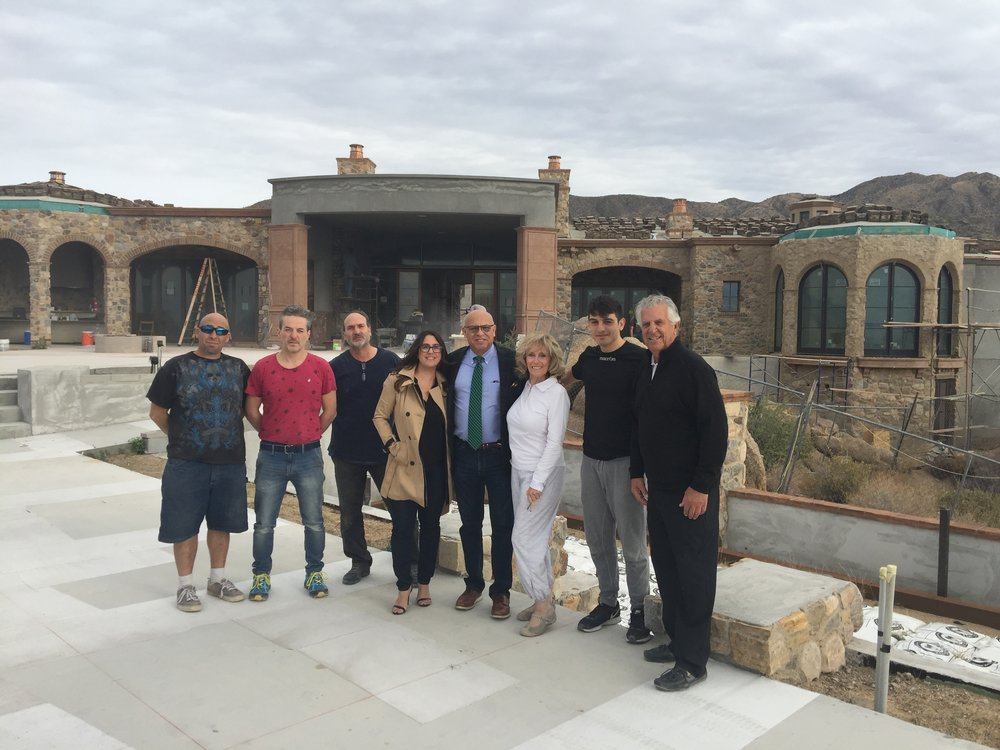 The Millwork Team from Italy at the Lerner Residence November 2017