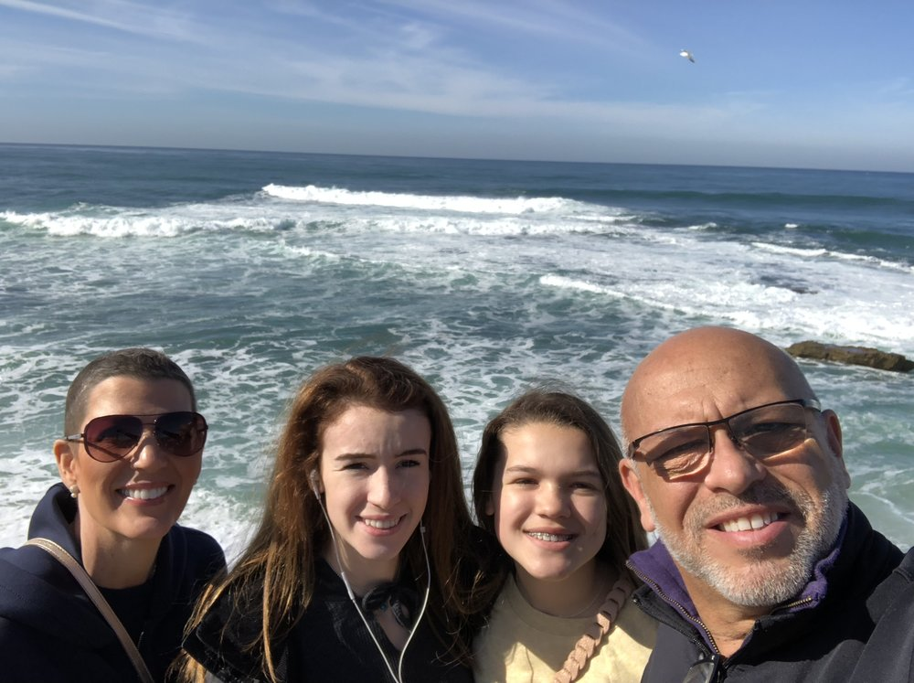 The Candelaria Clan in LaJolla, CA