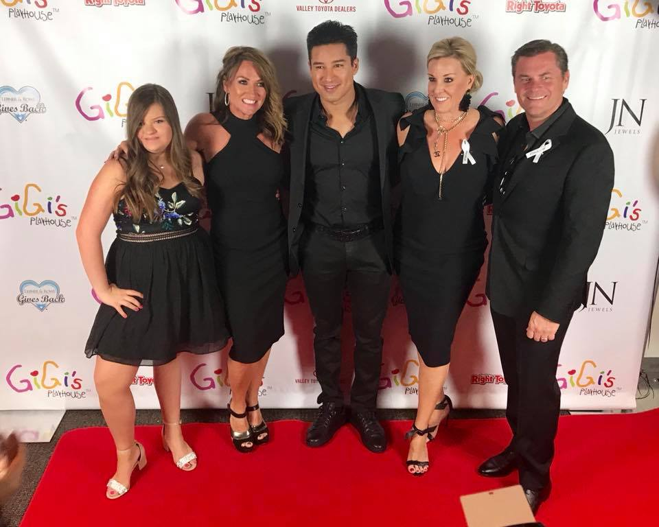The Gage Family with Mario Lopez at the Gigi's Gala