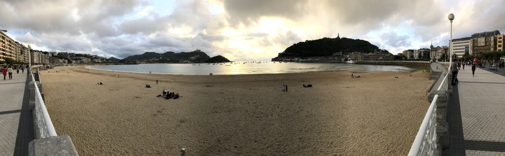 The view from our hotel room in San Sebastian