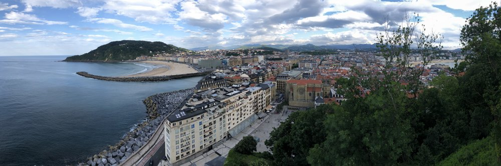 Beautiful view of San Sebastian