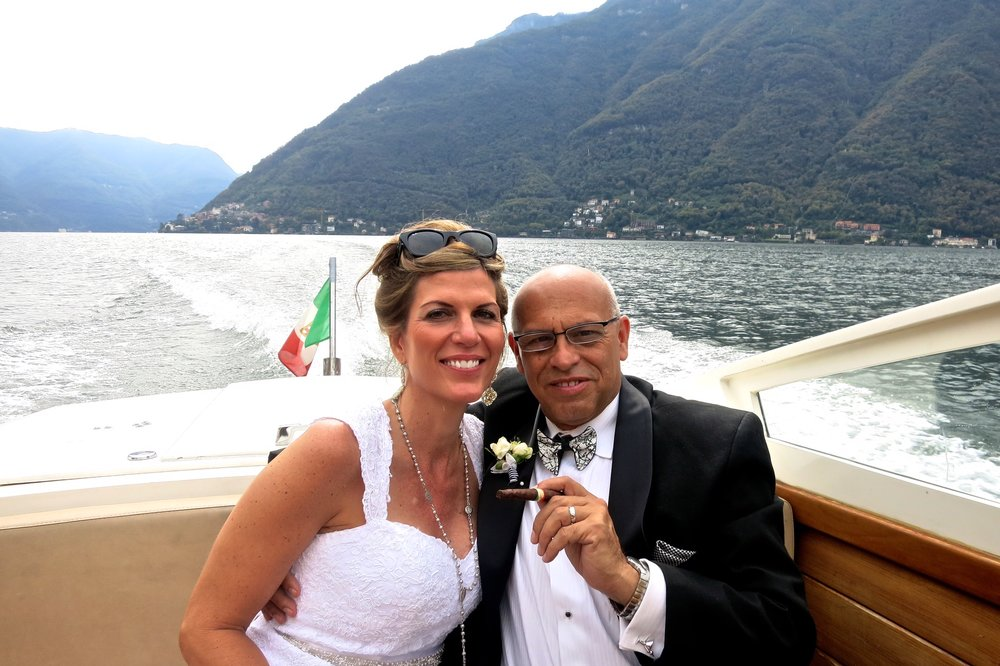 Our wedding day on Lake Como, Italy 2013